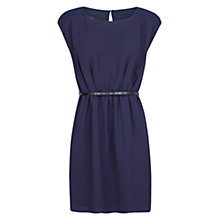 Buy Mango Chiffon Panel Dress, Navy Online at johnlewis.com