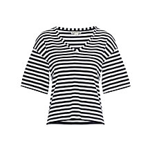 Buy Whistles Holly Premium Top, Navy Online at johnlewis.com