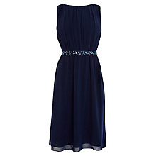 Buy Coast Istria Dress, Navy Online at johnlewis.com