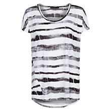 Buy Mango Tie-Dye Striped T-Shirt, Natural White Online at johnlewis.com