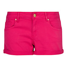 Buy Mango Rolled-Up Hem Shorts, Medium Blue Online at johnlewis.com