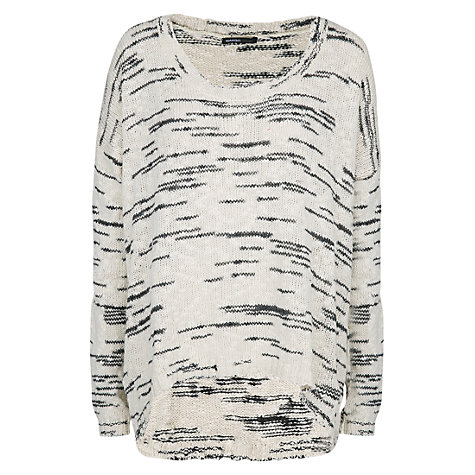 Buy Mango Flecked Cotton Jumper, Natural White Online at johnlewis.com