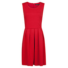 Buy Mango Ponte Fit and Flare Dress, Bright Red Online at johnlewis.com