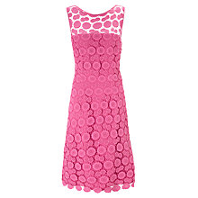 Buy Gina Bacconi Doily Lace Dress, Pink Online at johnlewis.com