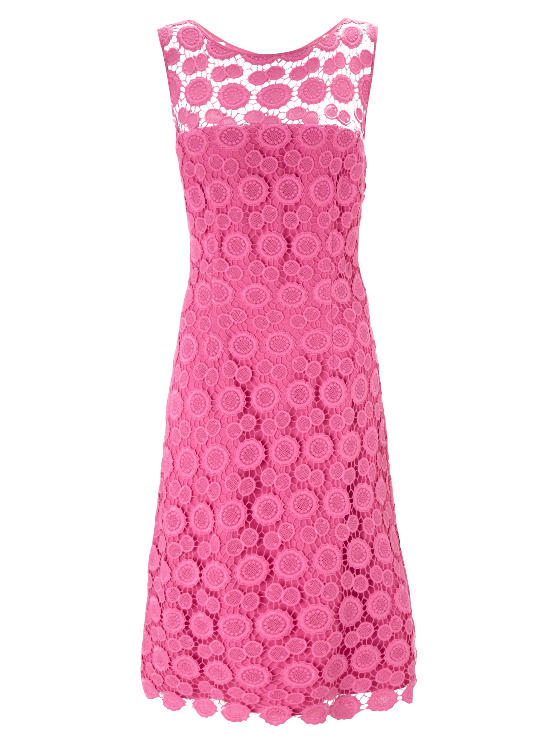 Gina Bacconi Doily Lace Dress, Pink