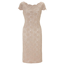 Buy Gina Bacconi Summer Corded Lace Dress, Summer Latte Online at johnlewis.com