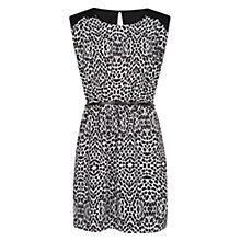 Buy Mango Animal Print Dress, Black Online at johnlewis.com