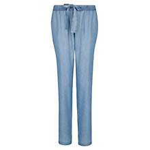 Buy Mango Tencel Baggy Trousers, Medium Blue Online at johnlewis.com