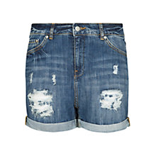 Buy Mango Denim Boyfriend Fit Shorts, Medium Blue Online at johnlewis.com