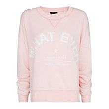 Buy Mango Whatever Lightweight Sweatshirt, Medium Pink Online at johnlewis.com