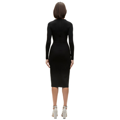 Buy Whistles Lucy Midi Dress, Black Online at johnlewis.com