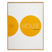 Buy House by John Lewis Natural Wood Photo Frame, 50 x 70cm Online at johnlewis.com