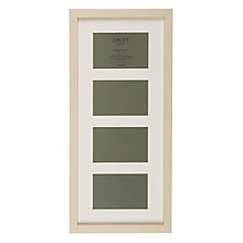 "Buy John Lewis Croft Collection Multi-aperture Frame, 4 Photo, 4 x 6"" (10 x 15cm), Cream Online at johnlewis.com"