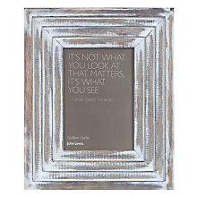 Buy John Lewis Maison Limed Wood Photo Frame Online at johnlewis.com
