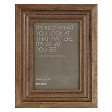 "Buy John Lewis Contoured Wood Photo Frame, 4 x 6"" (10 x 15cm) Online at johnlewis.com"