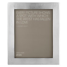 "Buy John Lewis Hammered Photo Frame, Metal, 8 x 10"" (20 x 25cm) Online at johnlewis.com"
