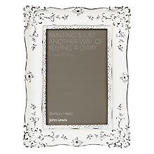 Buy John Lewis French Rococo Rectangular Frame, White Online at johnlewis.com