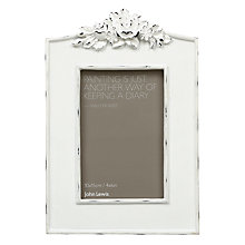 Buy John Lewis French Floral Top Photo Frame, White Online at johnlewis.com