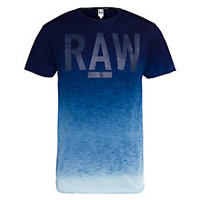 Buy G-Star Raw Terr Ombre T-Shirt, Indigo Online at johnlewis.com