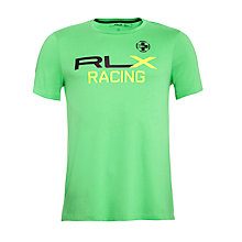 Buy Ralph Lauren RLX Racing Fleece Hoodie, Neon Green Online at johnlewis.com