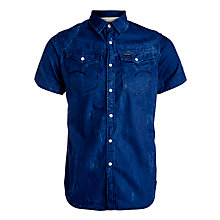 Buy G-Star Raw Arc 3D Denim Short Sleeve Shirt, Medium Aged Online at johnlewis.com