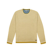 Buy Ted Baker Seeyar Zigzag Knit Jumper, Green Online at johnlewis.com