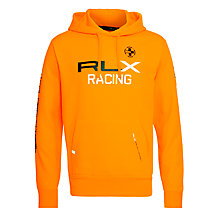 Buy Ralph Lauren RLX Racing Oran Hoodie, Orange Online at johnlewis.com