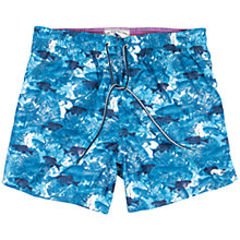 Buy Ted Baker Ceeshor Fish & Coral Print Swim Shorts, Blue Online at johnlewis.com