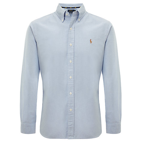 Buy Polo Ralph Lauren Oxford Slim Fit Long Sleeve Shirt, Sky Online at johnlewis.com