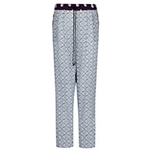 Buy Mango Printed Flowy Trousers, Medium Blue Online at johnlewis.com