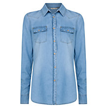 Buy Mango Light Denim Shirt, Pastel Blue Online at johnlewis.com