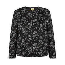 Buy NW3 by Hobbs Floral 2-Way Bomber Jacket, Black/White Online at johnlewis.com