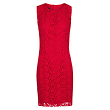 Buy Mango Guipure Sleeveless Dress, Medium Pink Online at johnlewis.com