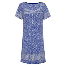 Buy NW3 By Hobbs Dragonfly Flower Dress, White Rain Blue Online at johnlewis.com