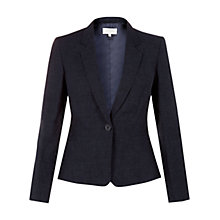 Buy Hobbs Daria Jacket, Light Indigo Online at johnlewis.com