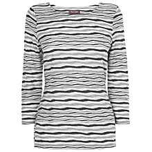 Buy Phase Eight Trinity Striped Top, Grey Marl Online at johnlewis.com