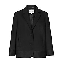Buy Reiss Contrast Border Dennie Jacket, Black Online at johnlewis.com
