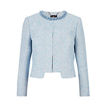 Buy Ted Baker Abina Beaded Jacquard Cropped Jacket, Powder Blue Online at johnlewis.com