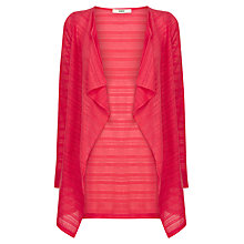 Buy Oasis Drape Cardigan, Mid Red Online at johnlewis.com