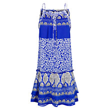 Buy Mango Printed Boho Dress, Bright Blue Online at johnlewis.com