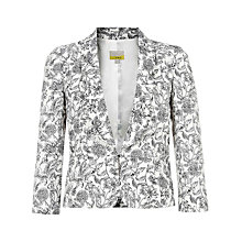 Buy NW3 By Hobbs Valeria Tux Jacket, Black/Ivory Online at johnlewis.com