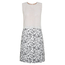 Buy Hobbs NW3 Valeria Dress, Ivory Black Online at johnlewis.com