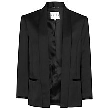 Buy Reiss Open Front Violet Jacket, Black Online at johnlewis.com