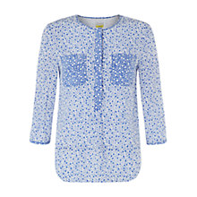 Buy NW3 by Hobbs Block Flower Blouse, White Rain Online at johnlewis.com