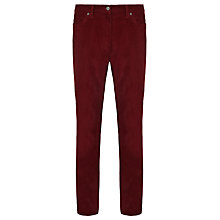 Buy John Lewis Laundered Needlecord Trousers, Red Online at johnlewis.com