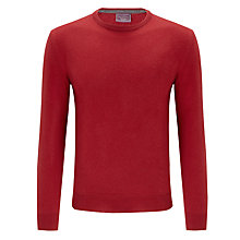 Buy John Lewis Italian Cashmere Crew Neck Jumper, Red Online at johnlewis.com
