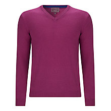 Buy John Lewis Made in Italy Cashmere V-Neck Jumper, Pink Online at johnlewis.com