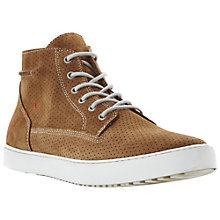 Buy Dune Sculpture Hi-Top Trainers, Tan Online at johnlewis.com