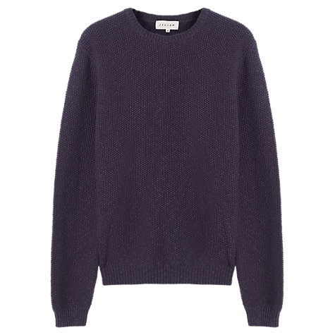 Buy Jigsaw Slub Cotton Linen Textured Knit Jumper Online at johnlewis.com