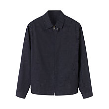 Buy Jigsaw Polka Dot Harrington Jacket, Navy Online at johnlewis.com